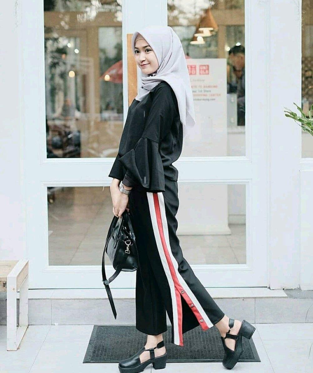 gambar style ootd hijab kulot terbaru styleala
