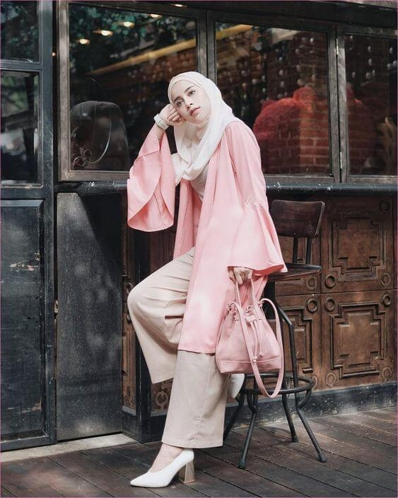 inspirasi ootd dress hijab untuk kuliah salim soraya