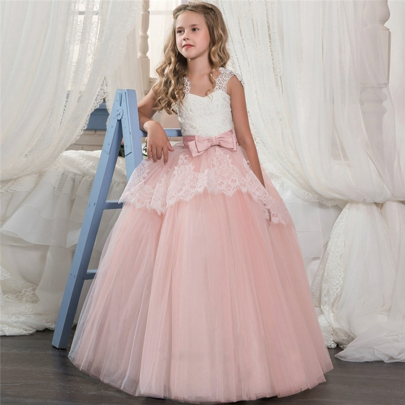 kids dresses for girls elegant princess wedding dress