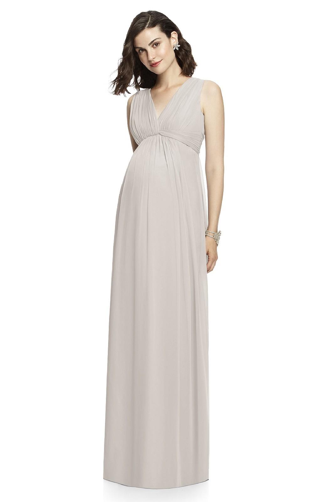 long grey maternity bridesmaid dressmdca 023 khaki