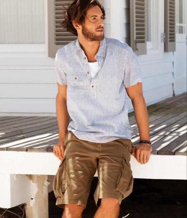 masculine style cargo shorts in summer men fashion hub