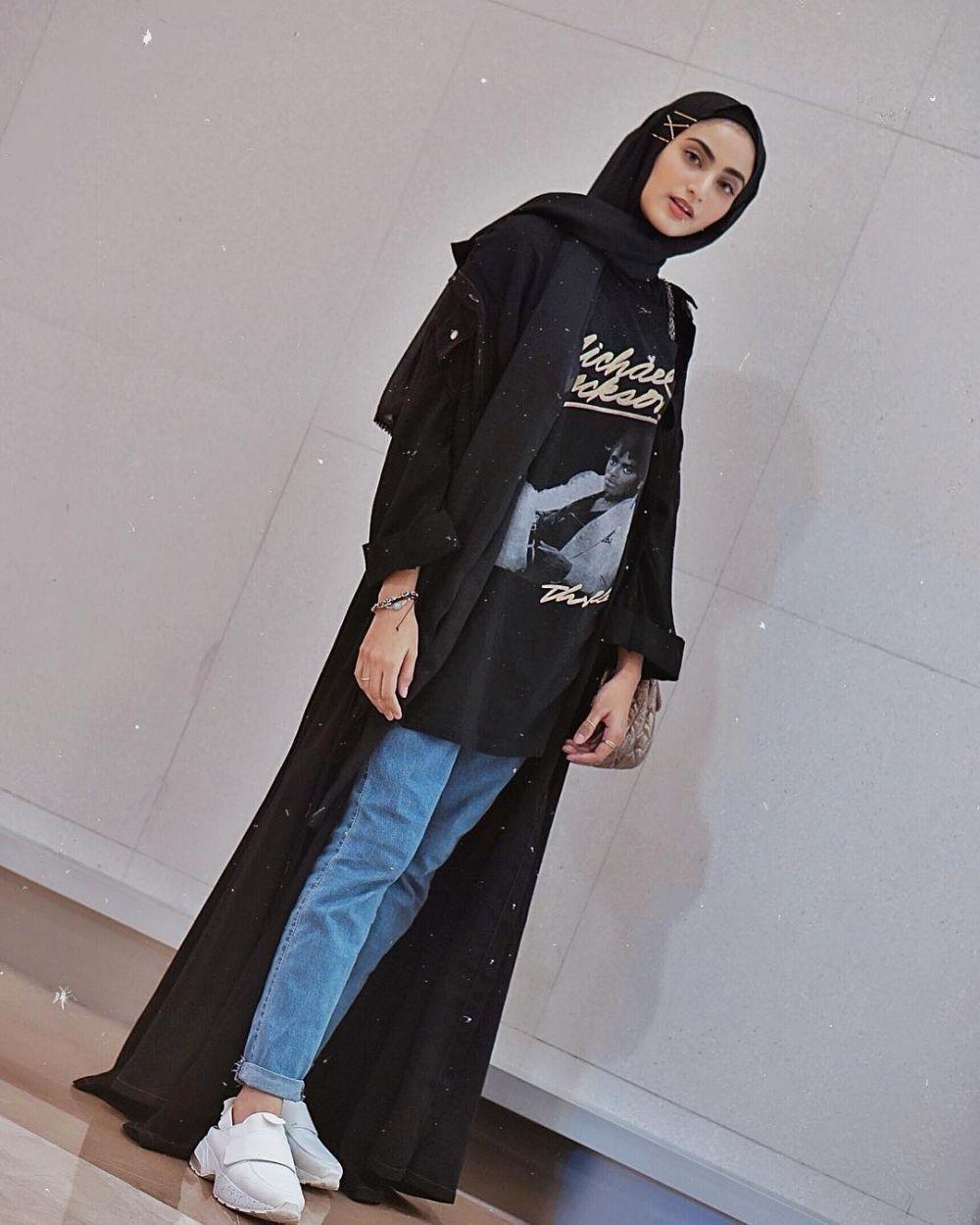 ootd hijab cardigan tanpa lengan hijab muslimah