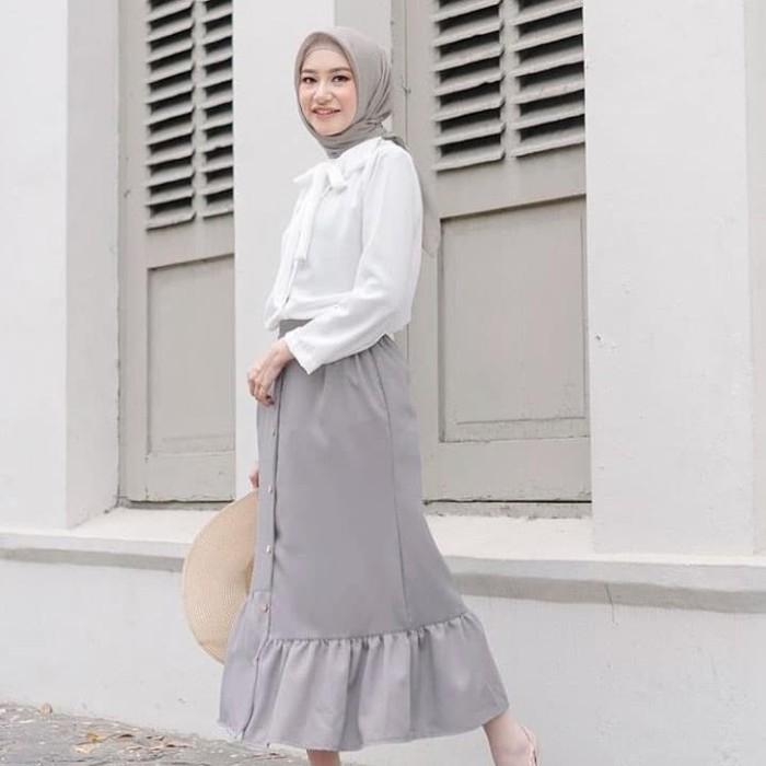 ootd hijab casual rok kumpulan gambar gambar terbaru 2