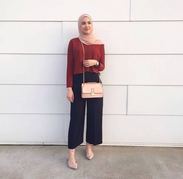 outfit hijab kulot remaja