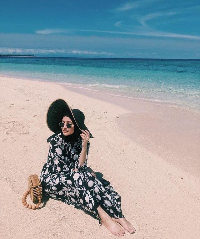 pin oleh juuuuu di pantai pakaian pantai casual hijab