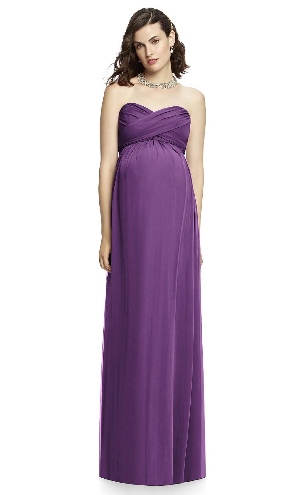 purple long maternity bridesmaid dressmdca 020 light