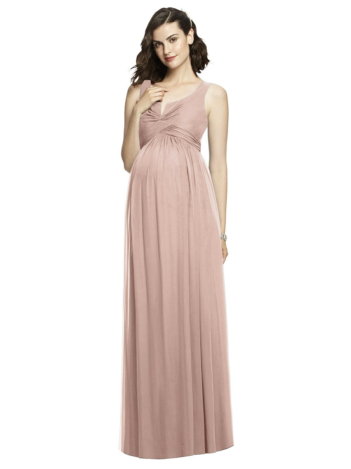 rhianna maternity bridesmaids dress dessy bliss pink