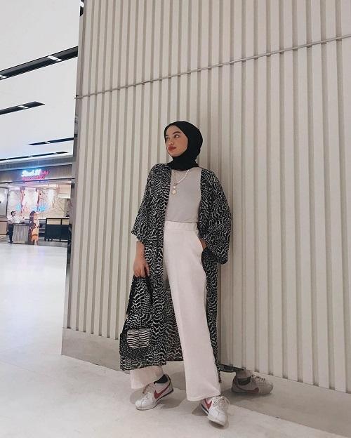 style kondangan hijab celana kulot hitam jilbab gallery