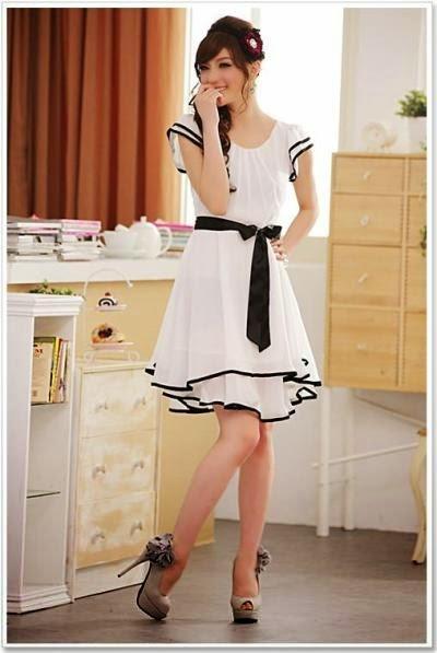trend model baju dress remaja korea terbaru