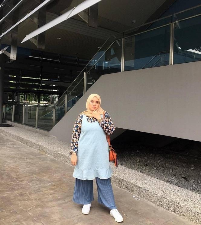 4 tips fashion muslim untuk wanita gemuk agar terlihat