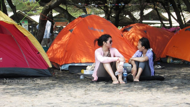 camping bareng greenpeace indonesia di pantai baru bantul