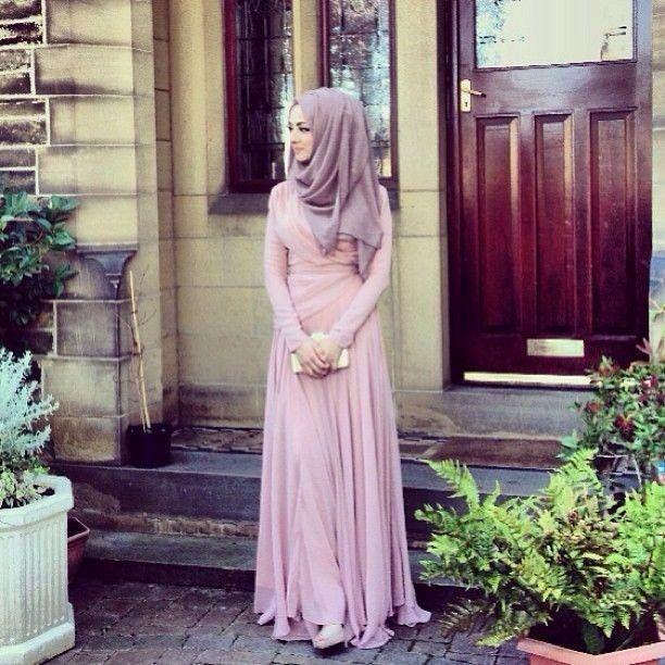 pastel pink dress for hijab hijab fashion fashion