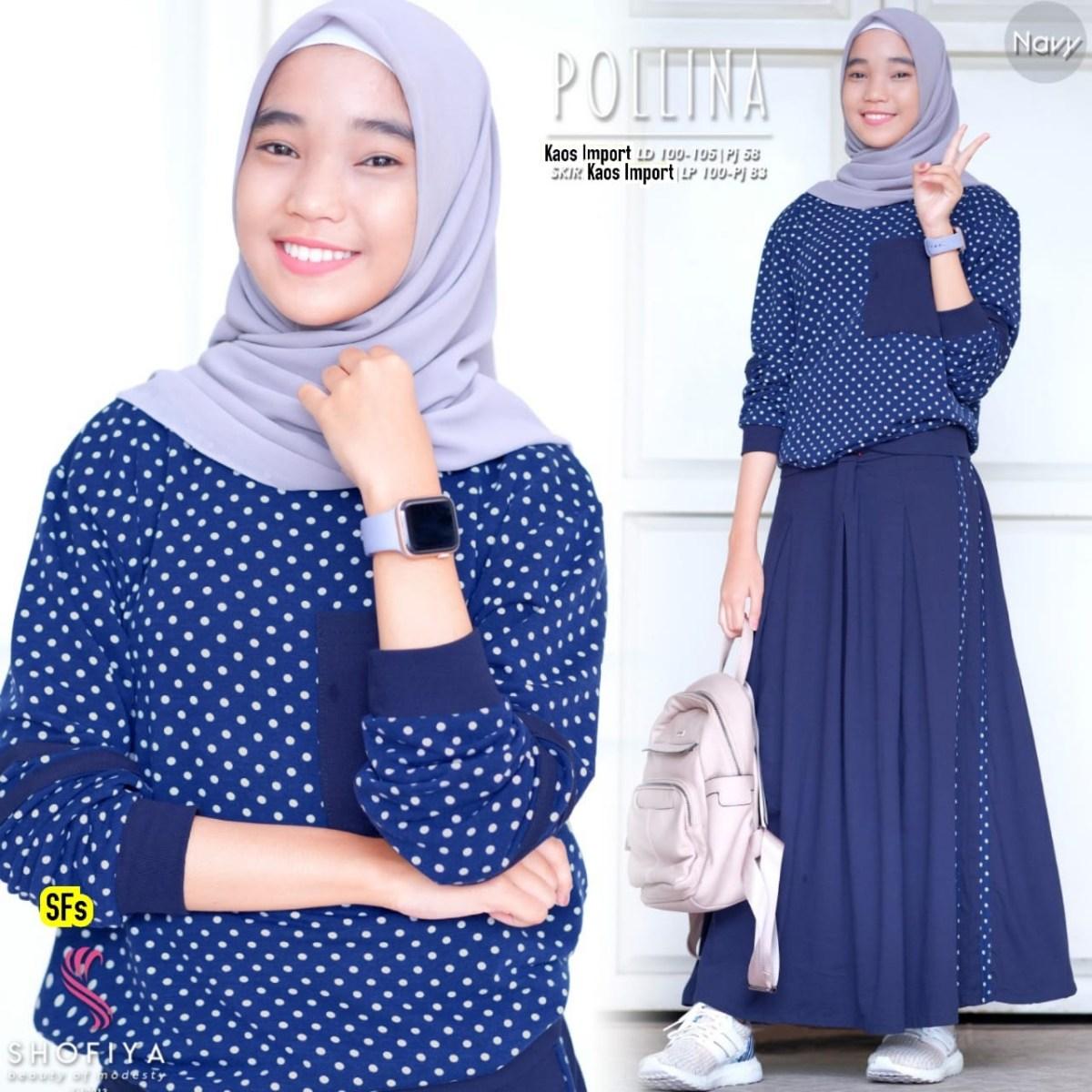 setelan baju muslim remaja pollina katalog bajugamismu
