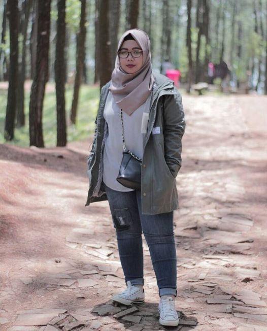 style casual hijab wanita gemuk hijab casual