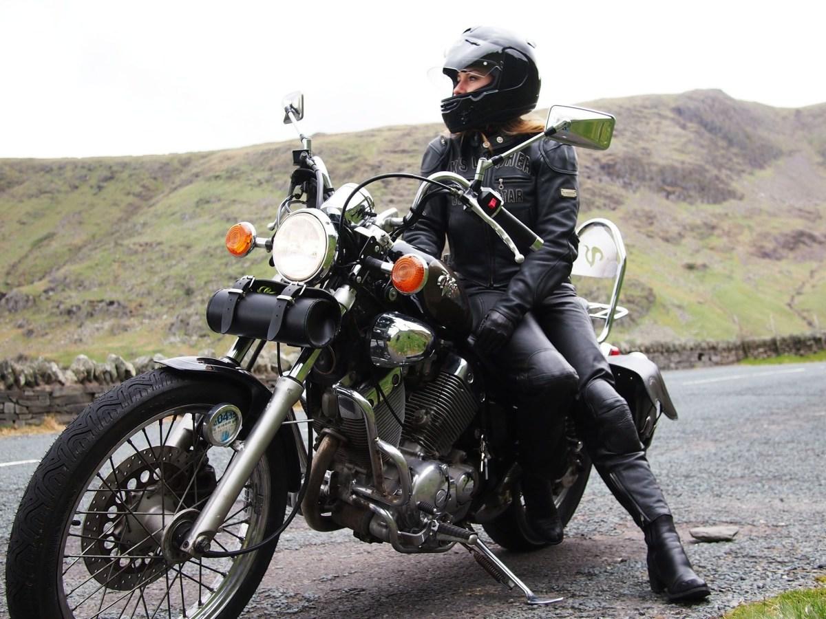 we ride yamaha virago biker girl motorcycle