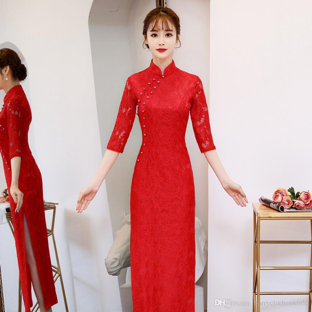 2019 chinese dress cheongsam dress qipao modern robe