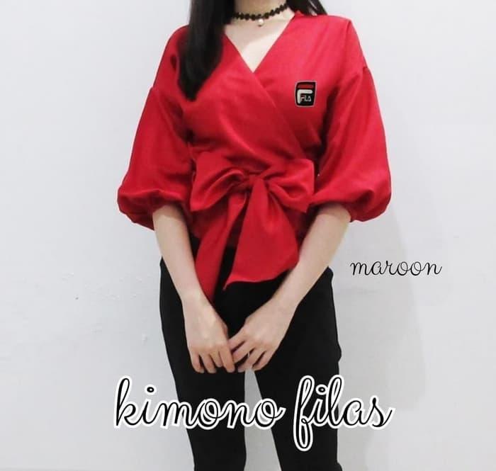 baju atasan wanita model kimono modis terbaru ryn fashion