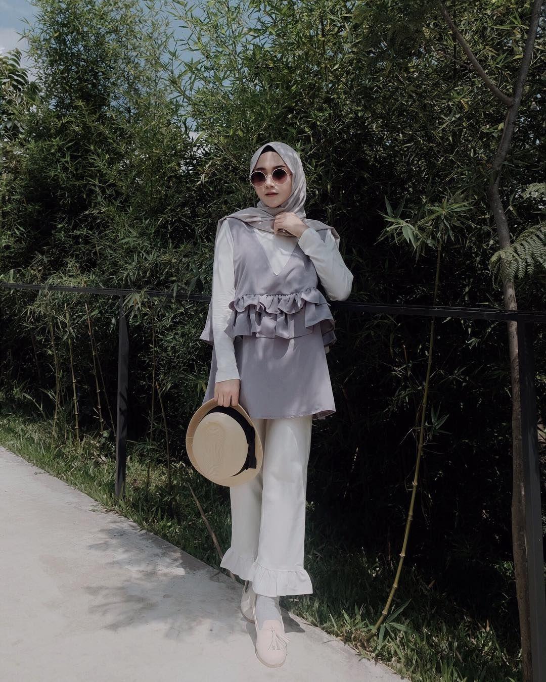 baju untuk hijabers kekinian jilbab satin