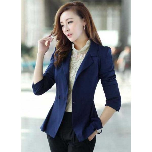 blazer kerja wanita korea t1567 moro fashion