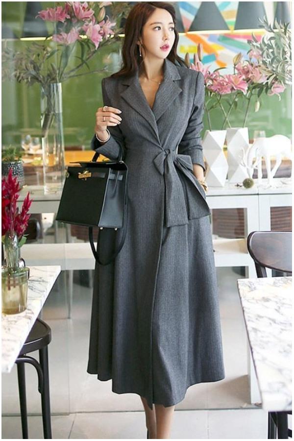 blazer long coat wanita busana semi formal wanita
