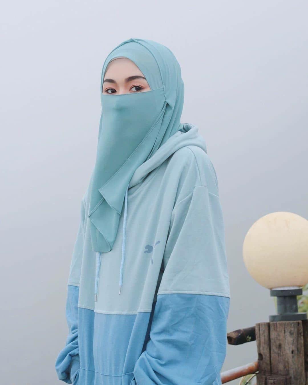 cadar hoodie casual hijab outfit gaya hijab hoodie