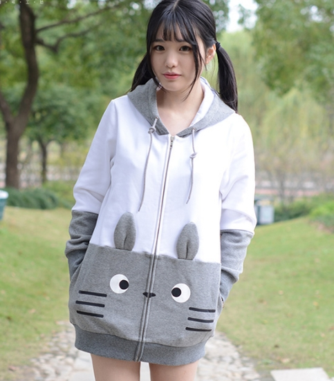 cute cartoon totoro hoodie coat asian cute kawaii