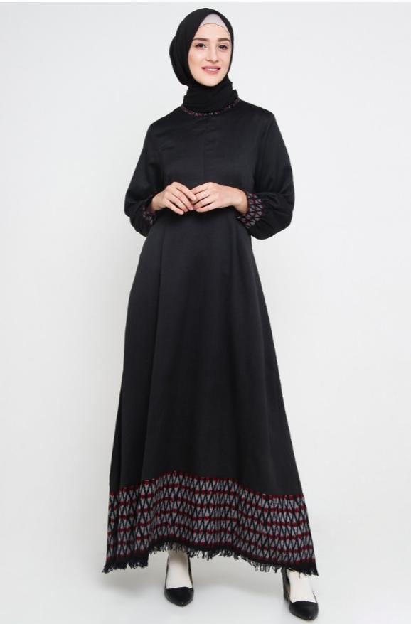 i love this black abaya allev wafida dress hitam