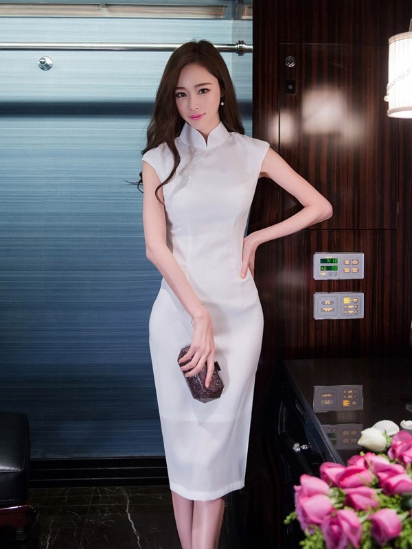 midi modern qipao cheongsam dress cozyladywear