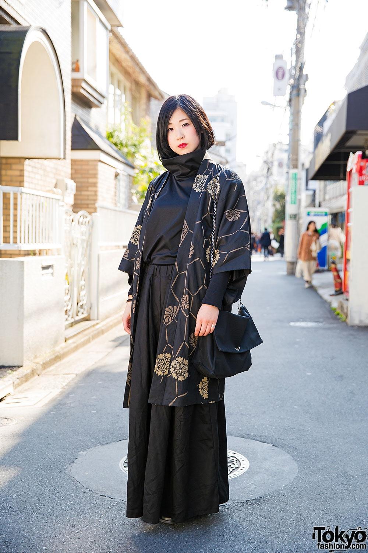 minimalist kujaku style w kimono jacket comme des