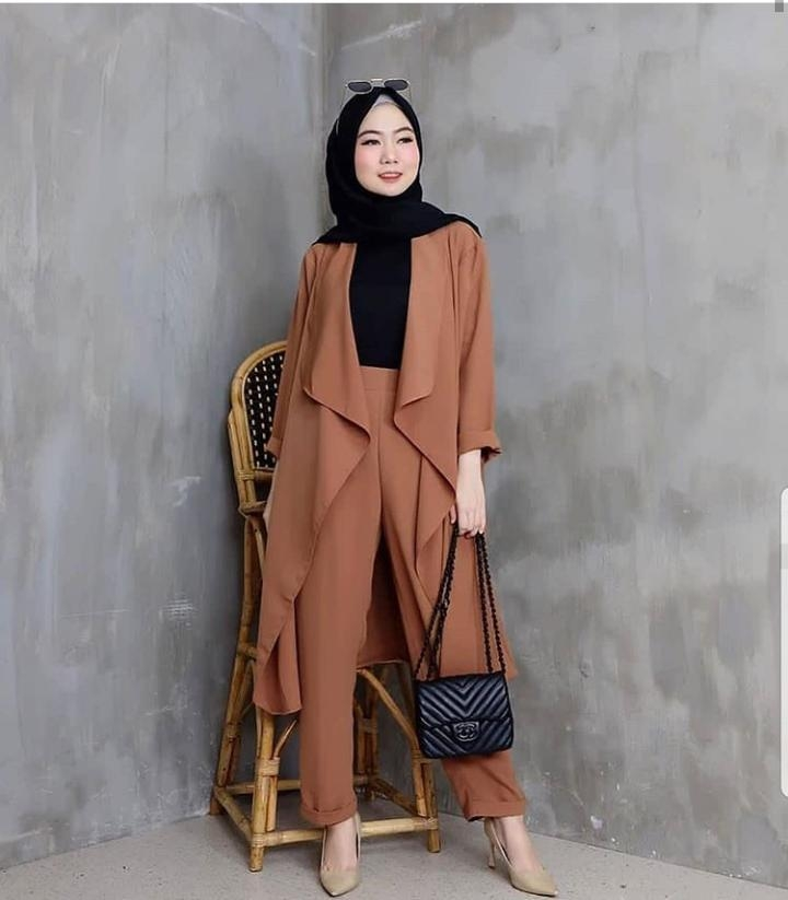 model baju gamis rompi jas hijab muslimah