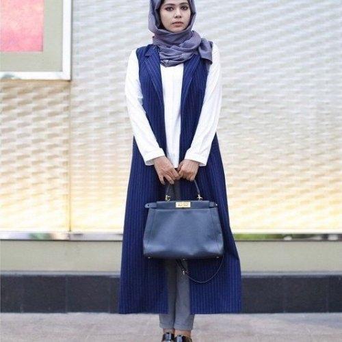 model baju yang ada rompi panjang model batik indonesia
