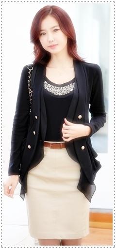 model blazer wanita modern koreadll