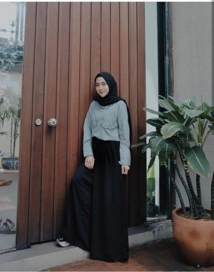 new style hijab casual monokrom ideas casual hijab