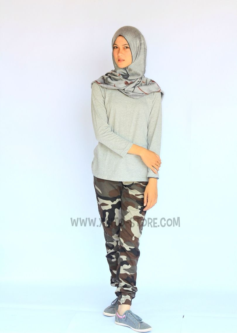 ootd celana jogger hijab model baju terbaru