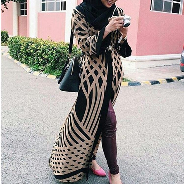 strap pattern modern kimono maxi hijab kaftan islamic open