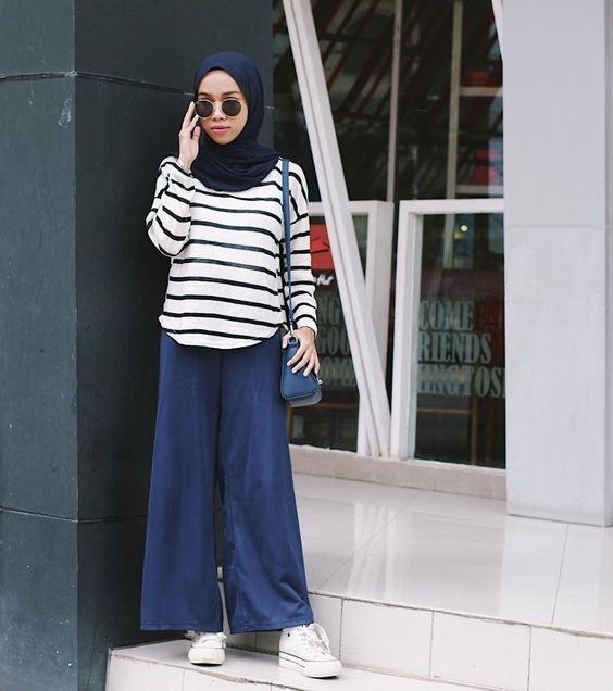 style hijab kulot motif gallery islami terbaru
