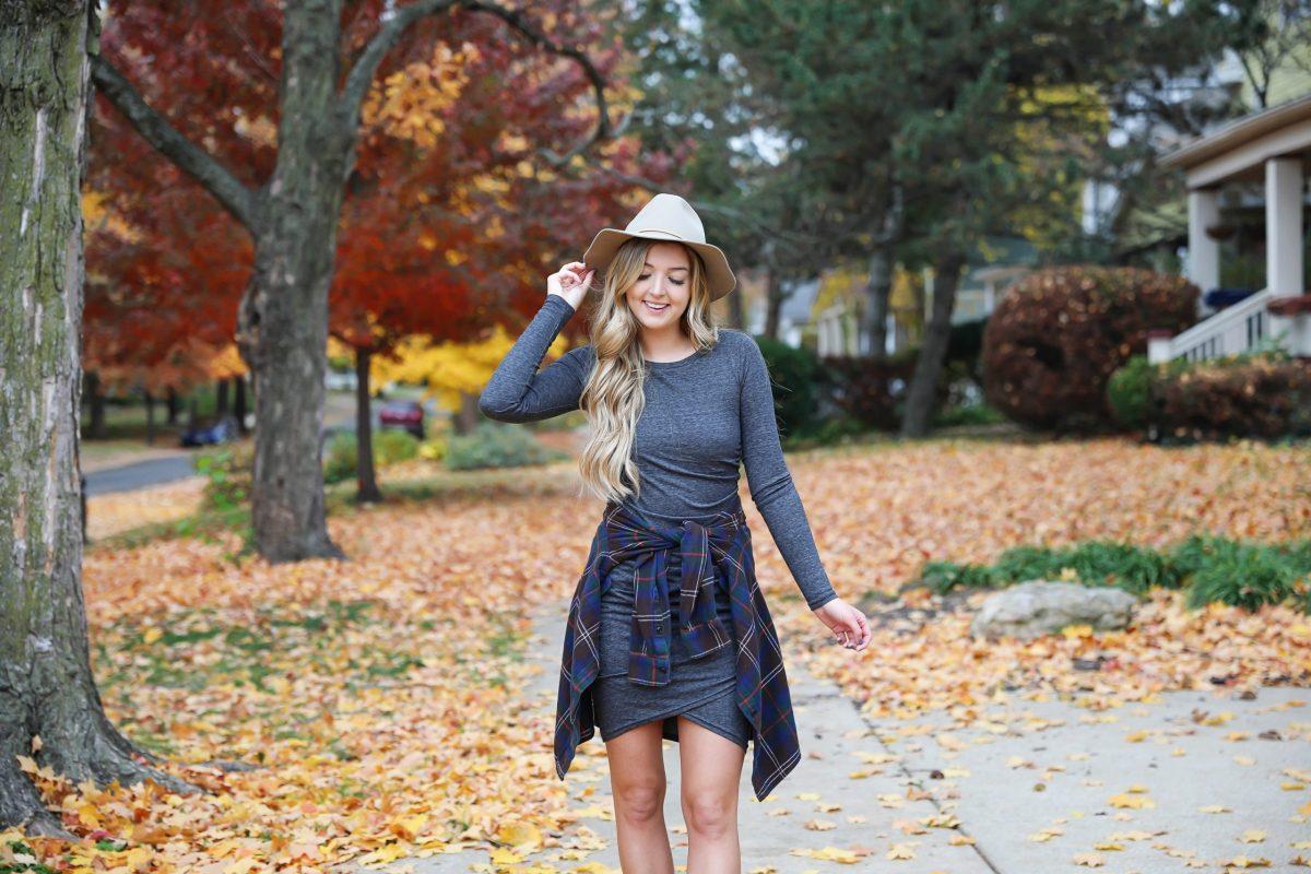 the prettiest fall leaves prettiest fall dress ootd