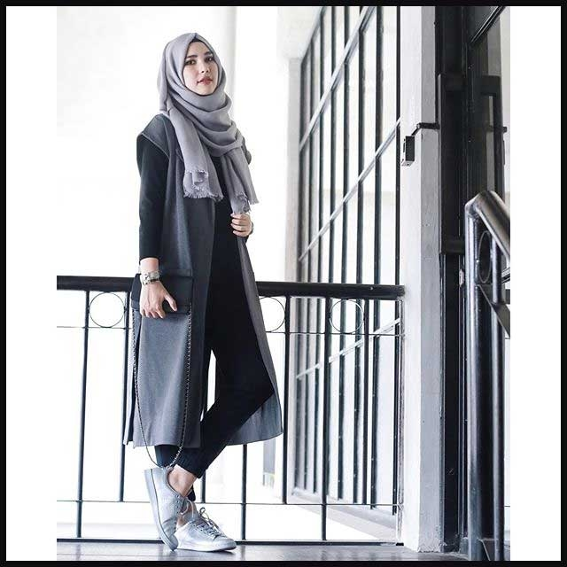 tips fashion muslimah untuk wanita pendek