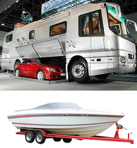 Store boat, car, RV