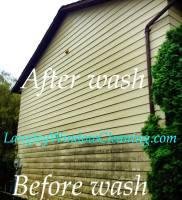 LangleyWindowCleaning.com – Siding Wash before after