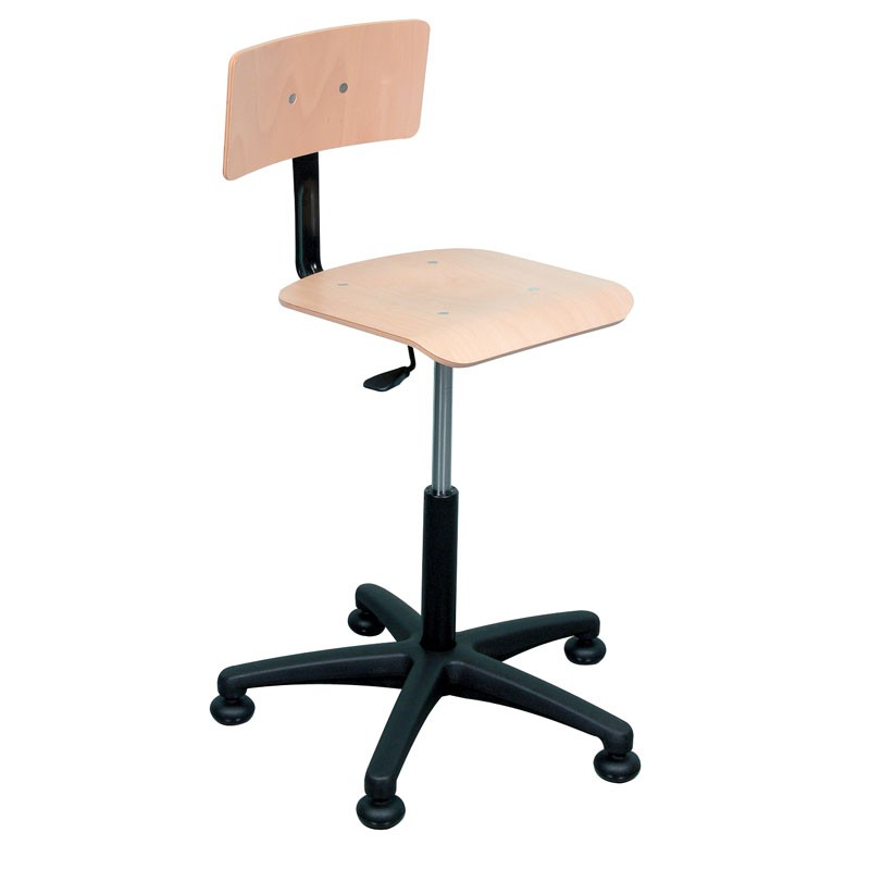 tabourets chaises bois hauteur reglable