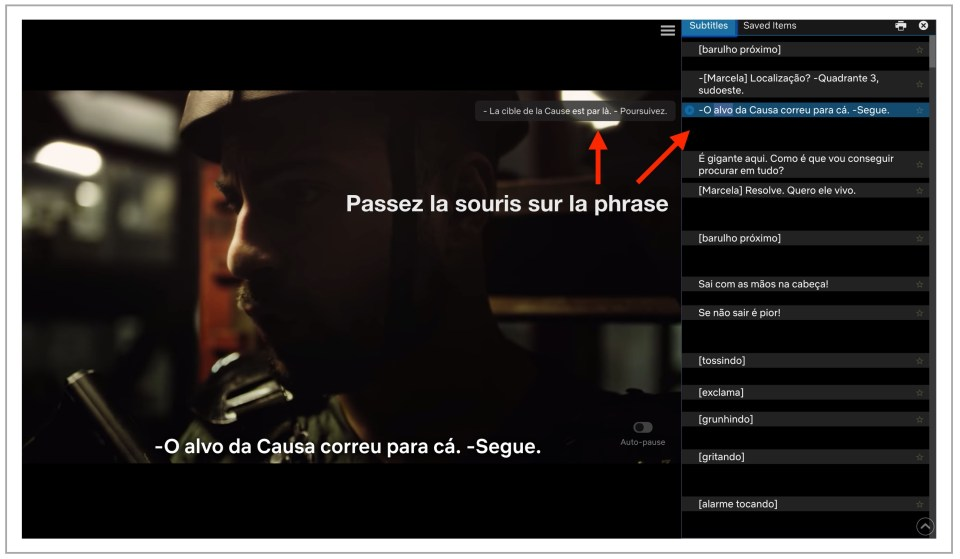 netflix traduction phrase