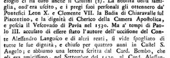 1534 – misteriosa morte del conte Alessandro Langosco