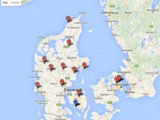 Brug oversigtskortet til at finde rulleskiløb i Danmark