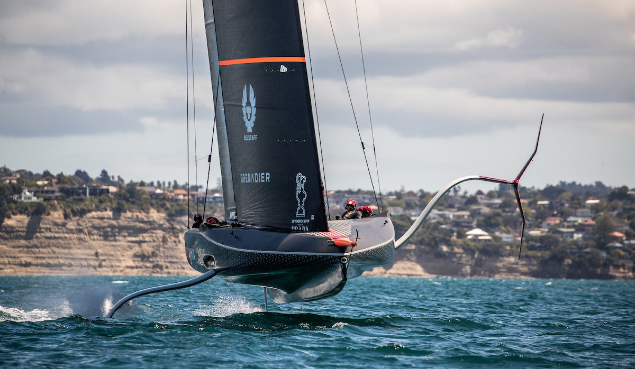 Supporting Sailing and Motor Sport brands excel and beat the world, Sir Ben Ainsleigh and his crew in action