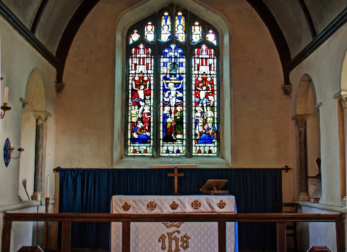 Ipsden Church Interior, North End, Ipsden Church Photo Gallery