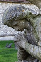 Angel Statue, Woodote. Churchyards, Langtree Team Ministry