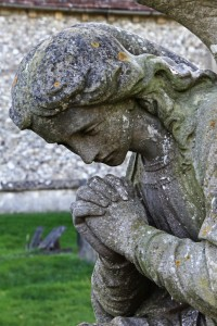 Angel monument, St Leonard's Church, WoodcoteChurch Photo Gallery