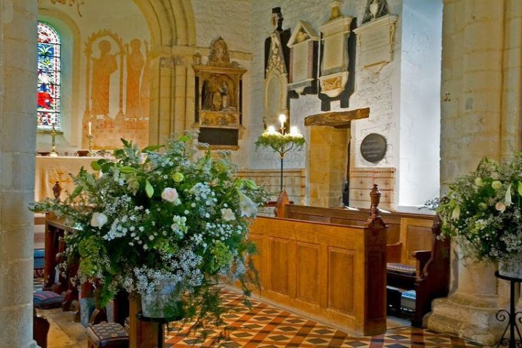 Checkendon Church - Wedding display
