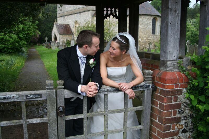 Checkendon - Wedding picture -Mr and Mrs Fishe
